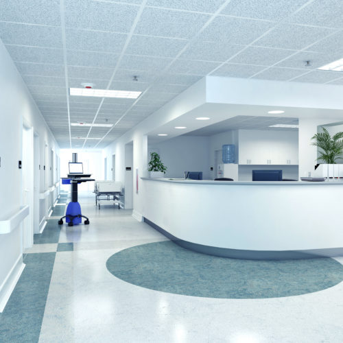 a very clean hospital interior. 3d rendering